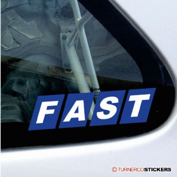 'FAST' old Fiat logo style sticker / decal